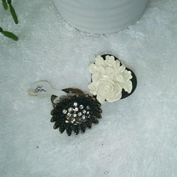 Vintage Romantic Style Adjustable Rings